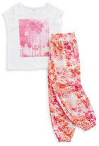 Amy Coe Baby Girls Tropical Tee and Harem Pants Set
