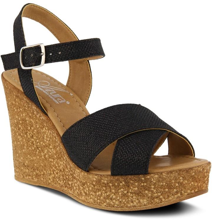 Thumbnail for your product : Azura Ronda Wedge Sandal