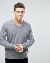 Benetton Merino Wool V Neck Sweater