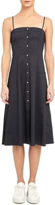 Theory Kayleigh A-Line Linen-Blend Dress