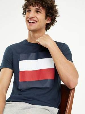 Tommy Hilfiger Signature Colour-Blocked Design T-Shirt