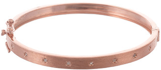 Forever Creations Usa Inc. Forever Creations Rose Gold Over Silver 0.20 Ct. Tw. Diamond Bangle