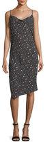 AG Jeans Gia Cowl-Neck Sleeveless Floral-Print Midi Dress