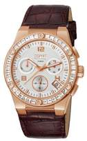 Esprit Pherousa Women's Quartz Watch with White Dial Chronograph Display and Brown Leather Strap EL101822F07