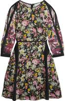 3.1 Phillip Lim Meadow Flower Cold-shoulder Printed Silk-crepe Dress - Black