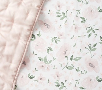Pottery Barn Kids Organic Meredith Allover Floral Fitted Crib Sheet