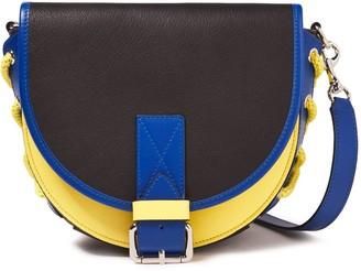 J.W.Anderson Lace-up Color-block Textured-leather Shoulder Bag