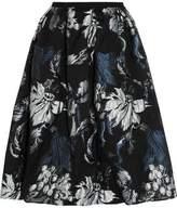 Erdem Halyn Pleated Metallic Jacquard Skirt