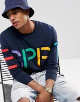 Esprit Logo Sweatshirt In Organic Cotton