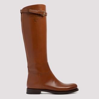 Prada Buckle Detail Boots