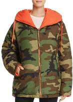 KENDALL + KYLIE Reversible Camouflage Down Jacket
