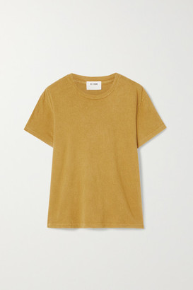 RE/DONE 70s Supima Cotton-jersey T-shirt - Yellow