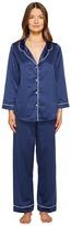 Oscar de la Renta Matte Satin Pajama Set Women's Pajama Sets