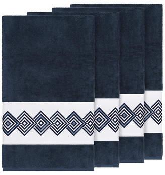 Linum Home Turkish Cotton Noah 4-Pc. Embellished Bath Towel Set Bedding