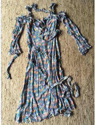 R 13 Blue Silk Dress for Women