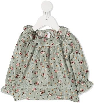 Bonpoint Floral-Print Silk Blouse