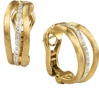 Marco Bicego Jaipur Link 18K Two-Tone 0.25 Ct. Tw. Diamond Three Row Hoops