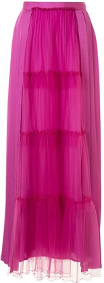 Undercover Tiered Full Length Skirt