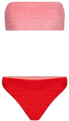 Zimmermann Poppy terry bandeau bikini