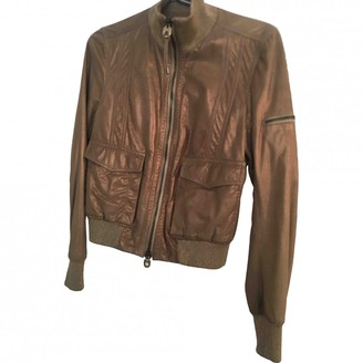 Bally Gold Leather Jackets