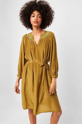 French Connection Almedina Drape Smocked Dress