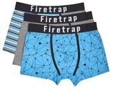 Burton Mens Fire Trap 3 Pack Blue Stripe Boxers*