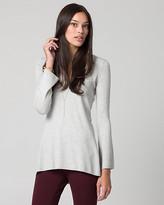 Le Château Viscose Blend V-Neck Tunic Sweater