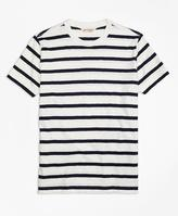 Brooks Brothers Slub Striped Tee Shirt
