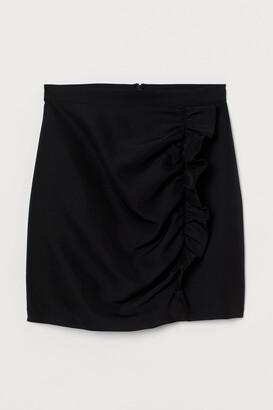 H&M Flounce-trimmed skirt