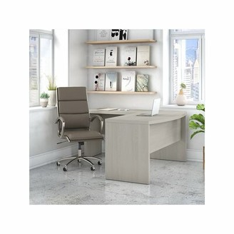 Ebern Designs Danube L-Shape Desk and Chair Set Color: Gray Sand