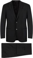 Armani Collezioni G-line Black Wool Suit