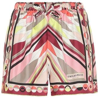 Emilio Pucci Beach Printed silk shorts