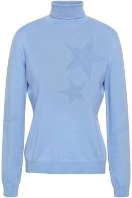 Moschino Intarsia-knit Virgin Wool Turtleneck Sweater
