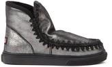 Mou Eskimo 14 Silver Metallic Leather Ankle Boot