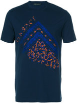 Versace Painted Baroque embroidered T-shirt