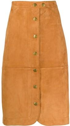 Coach Button-Down Midi Skirt