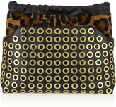 Burberry Calf hair and leather clutch