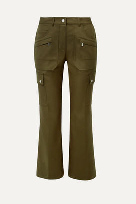 Michael Kors Collection Cotton-twill Cargo Pants - Army green