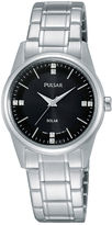 Pulsar Night Out Womens Crystal-Accent Solar Expansion Bracelet Watch PY5001