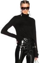 Unravel Boiled Cashmere Shrunken Turtleneck Sweater in Black.