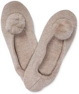 A & R Cashmere Cashmere Blend Pom Pom Slippers