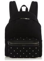 Saint Laurent Metal Star-appliqué Canvas Backpack