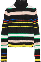 Love Moschino Striped wool-blend turtleneck sweater