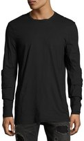 Helmut Lang Elbow-Patch Long-Sleeve T-Shirt, Black