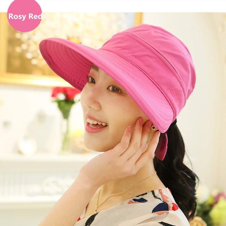 11613828a FZAY Visor Hats Wide Brim Cap UV Protection Summer Sun Hats for Women