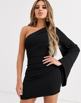Significant Other seeker one sleeve mini dress