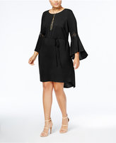 Love Squared Trendy Plus Size Lace-Trim Dress