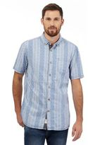 Mantaray Blue Striped Print Short Sleeved Shirt