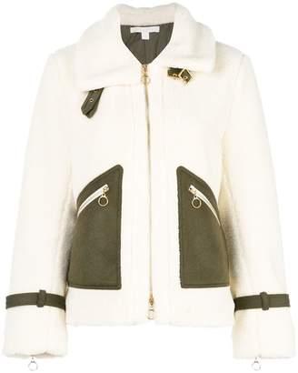 Jonathan Simkhai fleece biker jacket
