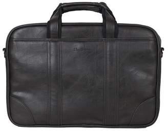 """Ben Sherman Faux Leather Dual Compartment 15.6\"""" Laptop Case"""